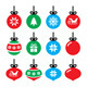 Christmas Ball Icons Set  - GraphicRiver Item for Sale