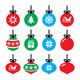 Christmas Ball Icons Set  - GraphicRiver Item for Sale