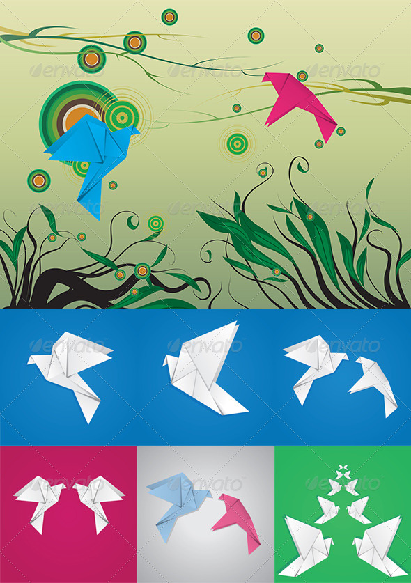 GraphicRiver Origami Pigeon 8717413