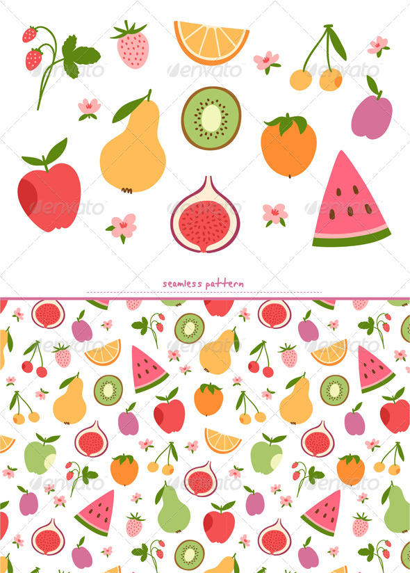 GraphicRiver Fruits and Berries Set 8717460