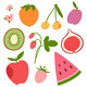 Fruits and Berries Set - GraphicRiver Item for Sale