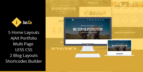 ThemeForest JASCO Creative Multi-purpose WordPress Theme 8717525