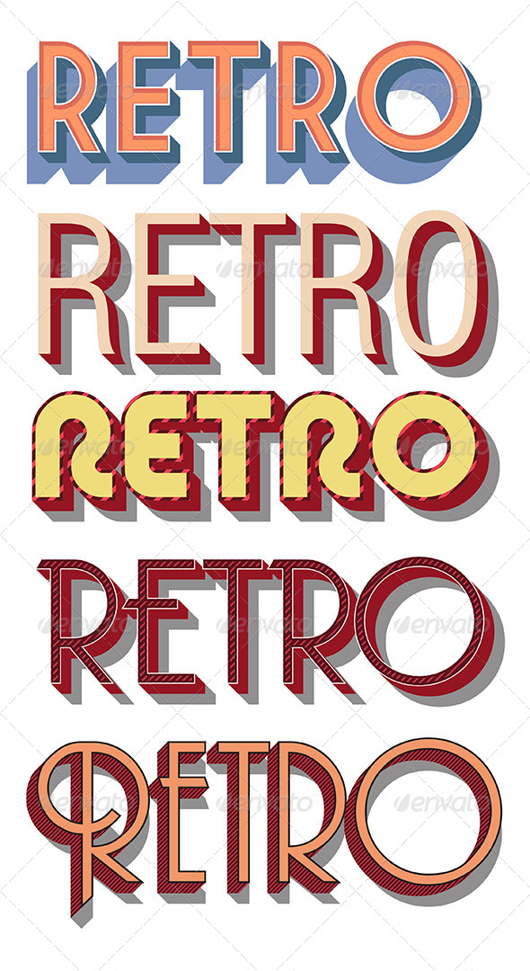 GraphicRiver Retro Vector Graphic Styles 8717674