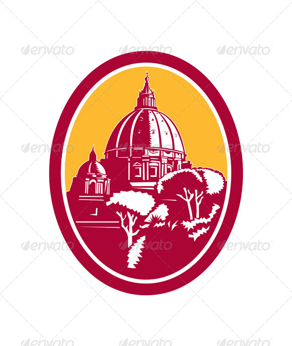GraphicRiver Dome of St Peter s Basilica Vatican 8717705