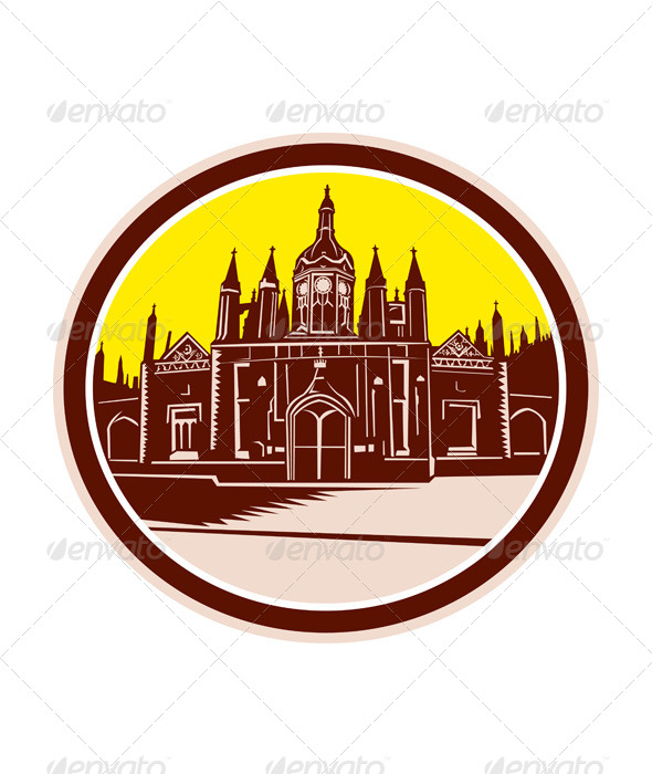 GraphicRiver King s College Cambridge Building 8717708