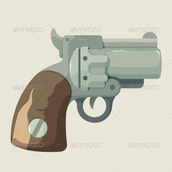 GraphicRiver Old Cowboy Revolver 8717731