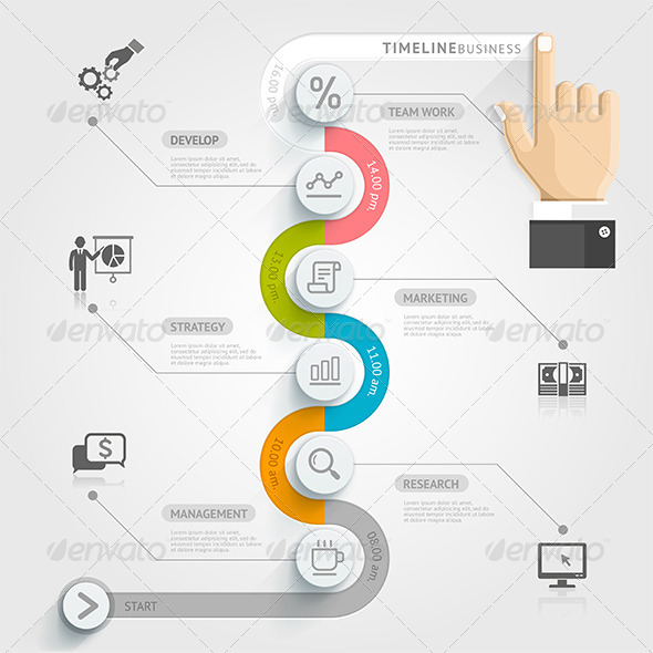 GraphicRiver Business Timeline Infographics 8717735