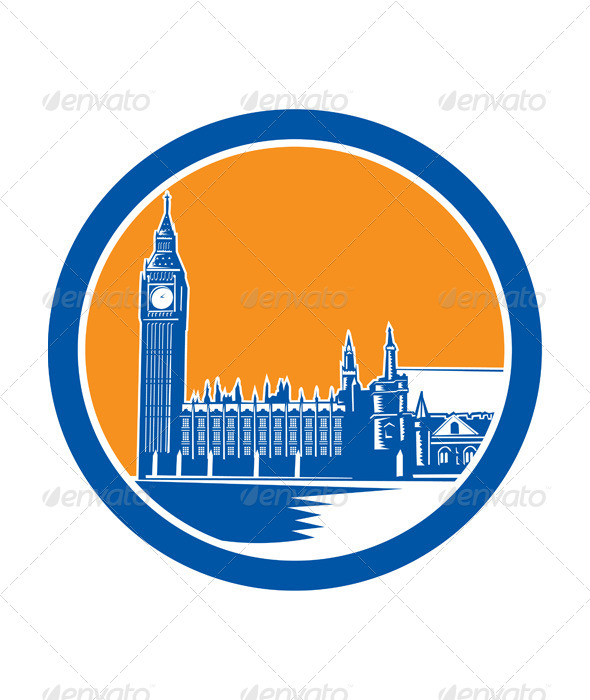 GraphicRiver Big Ben Clock Tower Westminster Palace 8717738