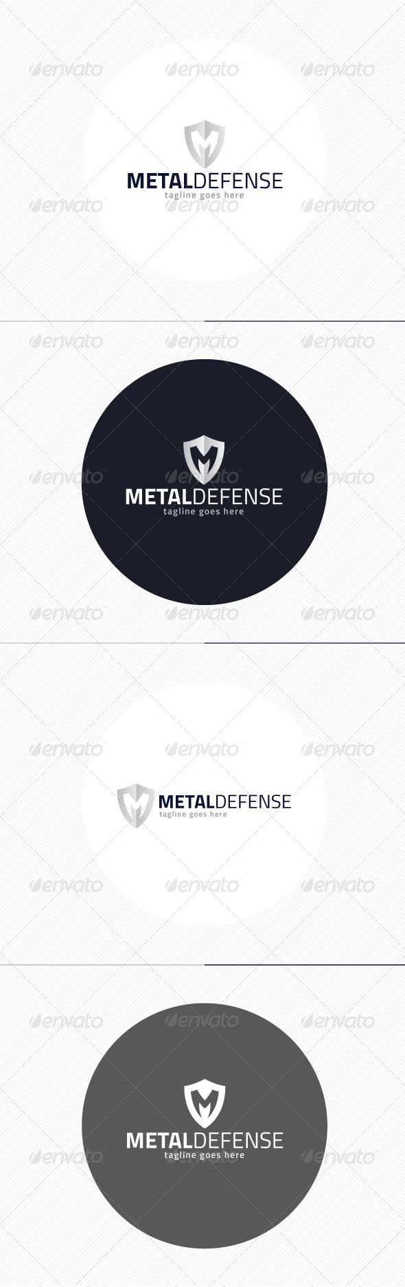 GraphicRiver Metal Defense Logo Letter M 8659092