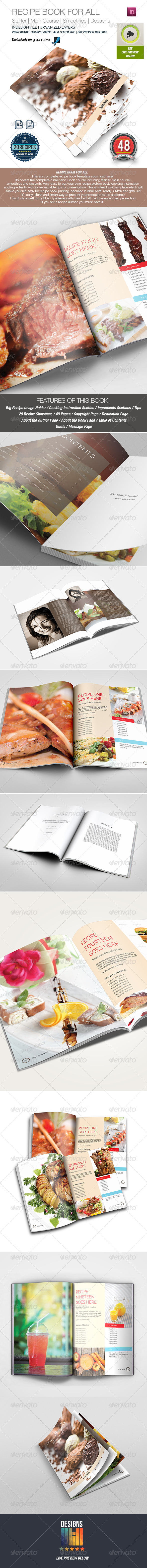 GraphicRiver Recipe Book Template for All 8717828