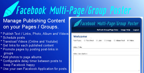 CodeCanyon Facebook Multi-Page Group Poster 8496644