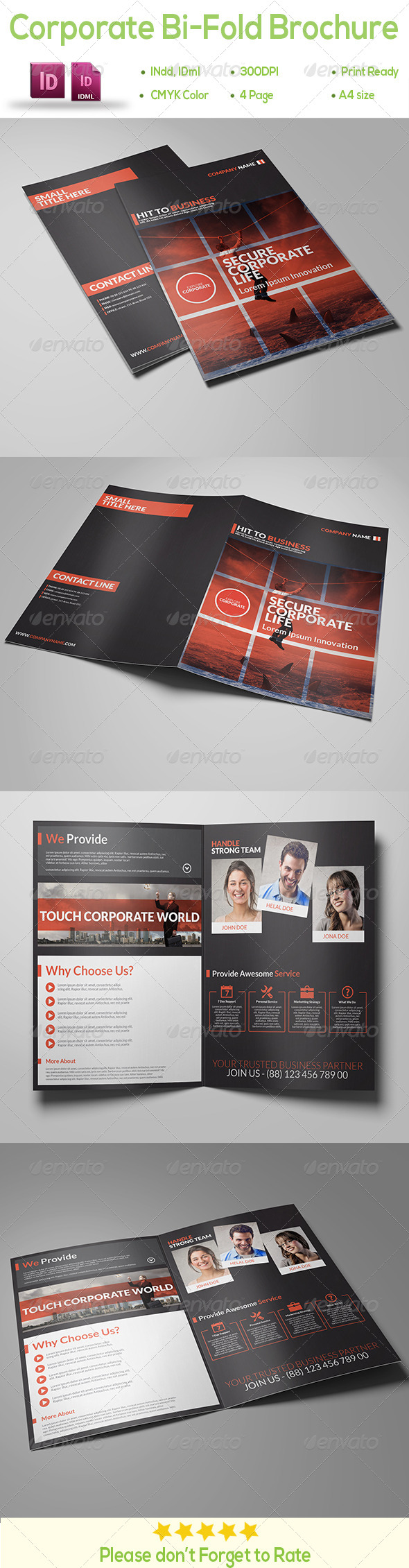 GraphicRiver Corporate Bi-Fold Brochure 8718100