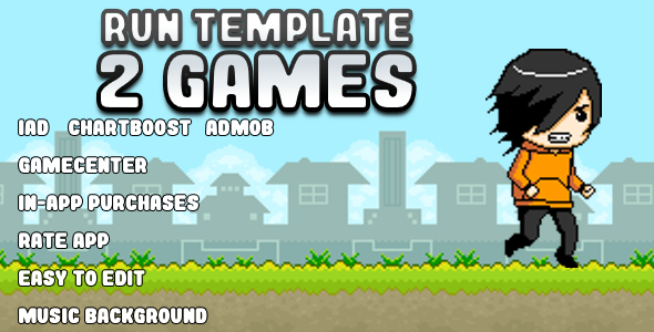 CodeCanyon Run Template 2 GAMES 8607675