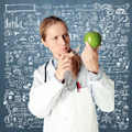 scientist woman with apple - PhotoDune Item for Sale