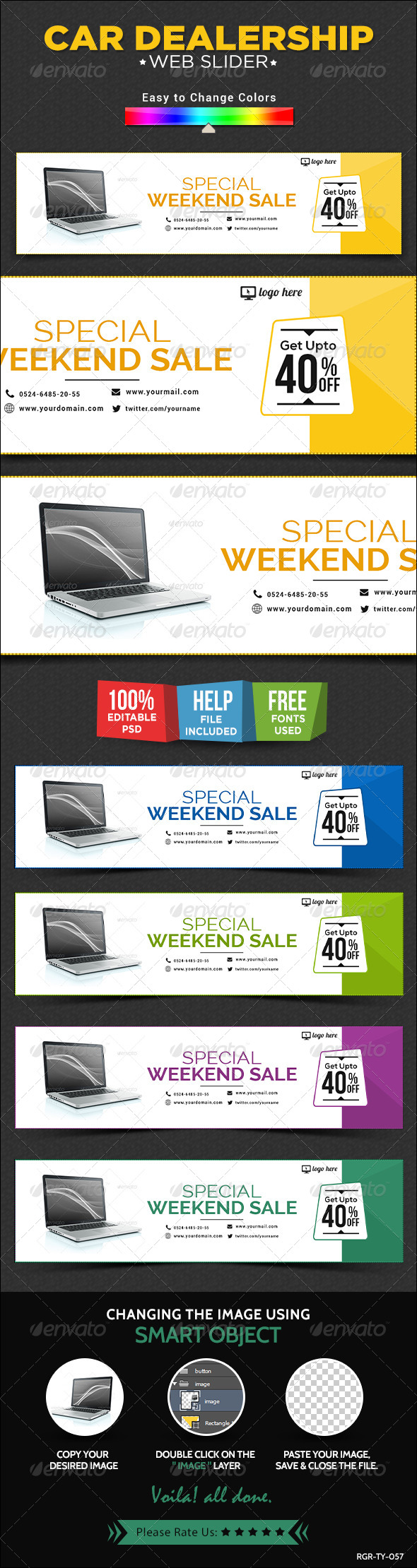 GraphicRiver Weekend Sale Banners 8718198