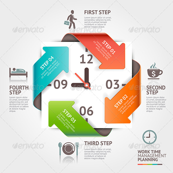 GraphicRiver Arrow Timeline Management Infographics 8718314