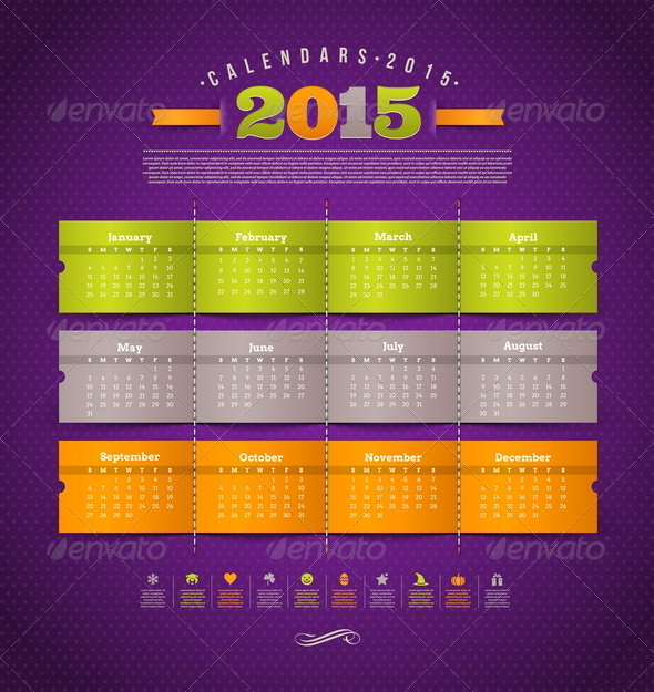 GraphicRiver Template Calendar 2015 8718644