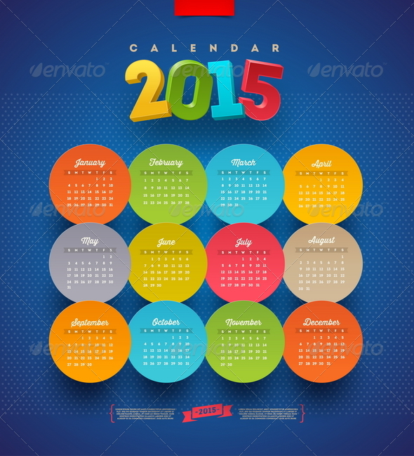 GraphicRiver Calendar 2015 Vector Template 8718934