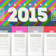 Vector Abstract Multicolored Calendar of 2015 - GraphicRiver Item for Sale