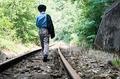 Child walking on railway - PhotoDune Item for Sale
