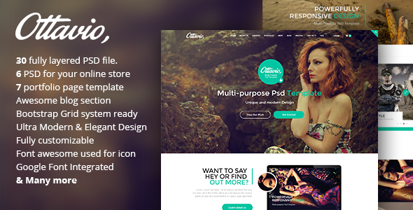 Ottavio - Creative Multi-Purpose PSD Template - Creative PSD Templates