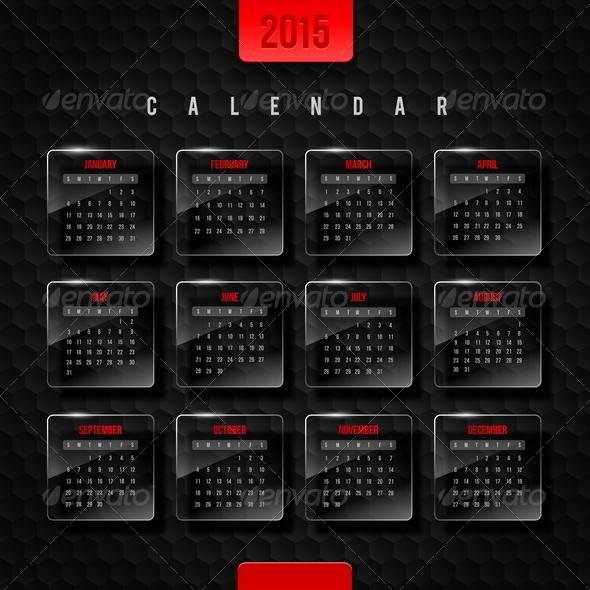 GraphicRiver Vector Template Calendar 2015 8719094