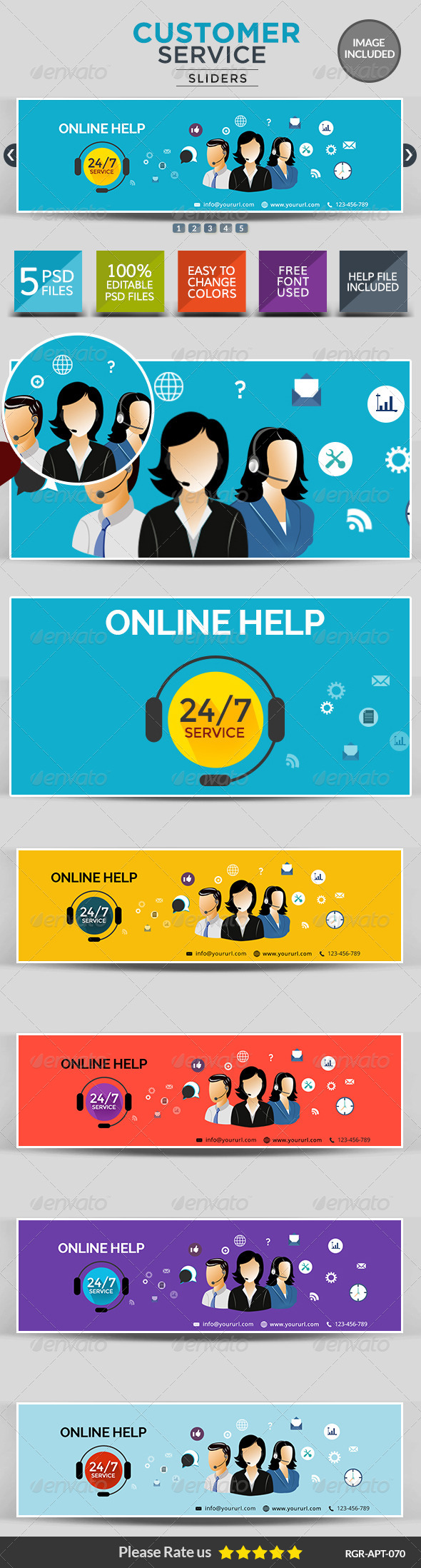 GraphicRiver Customer Service Sliders 8719108