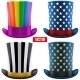 Set of Magic Hats Cylinder. Vector Illustration - GraphicRiver Item for Sale