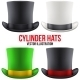 Set of Gentleman Hat Cylinder - GraphicRiver Item for Sale