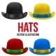 Set of Colorful Bowler Hats - GraphicRiver Item for Sale