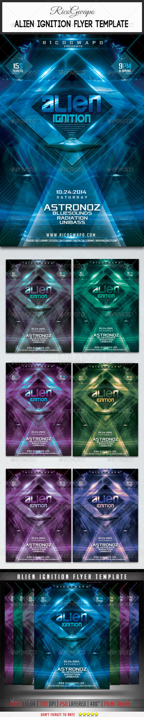 GraphicRiver Alien Ignition Flyer Template 8719605