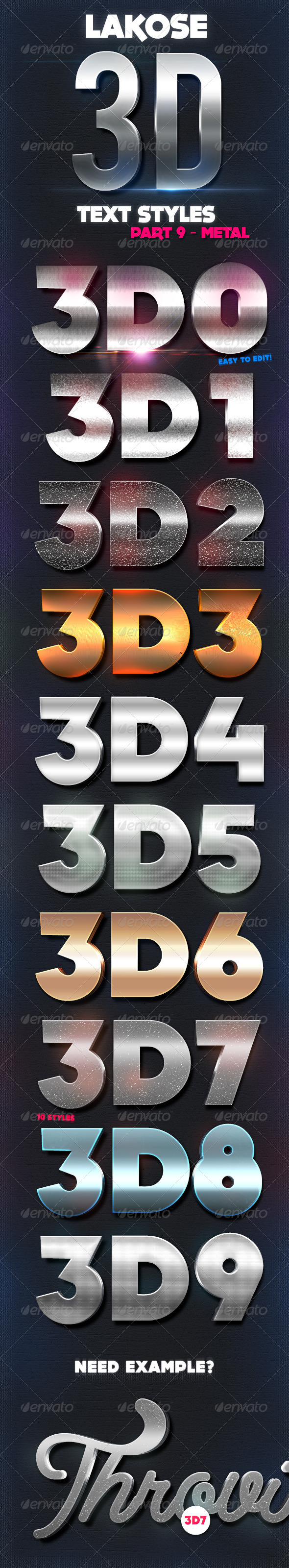 GraphicRiver Lakose 3D Text Styles Part 9 8719606