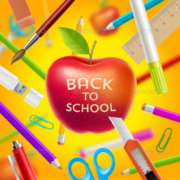 GraphicRiver Back to School Vector Illustration 8719692