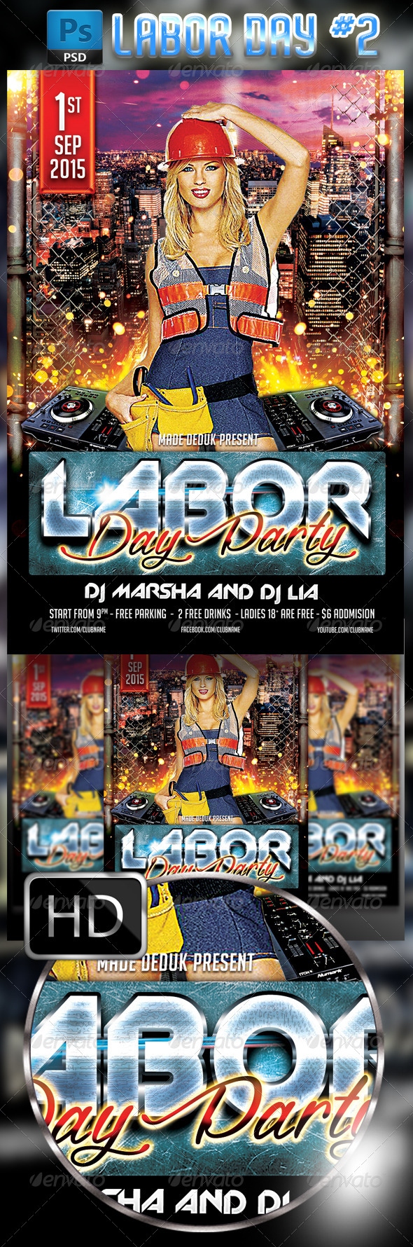 GraphicRiver Labor Day Flyer Template #2 8719973