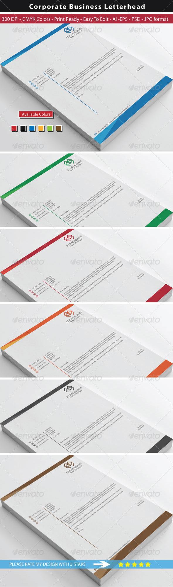 GraphicRiver Clean Texture Letterhead 8720008