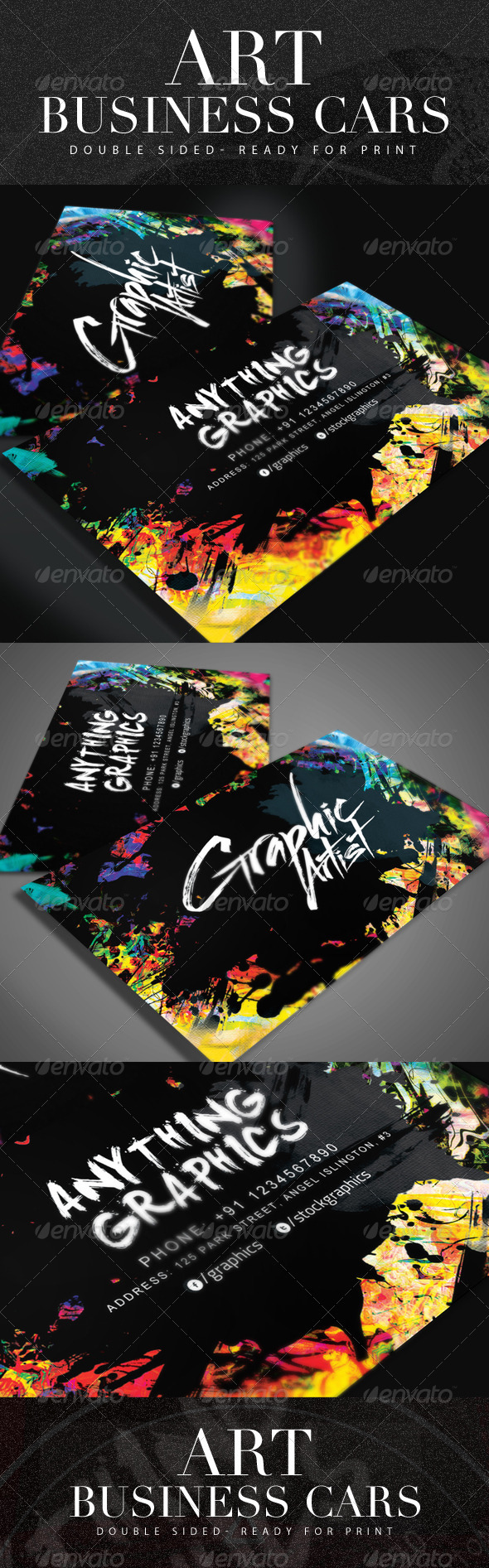 GraphicRiver Artistic Business Card 8720220