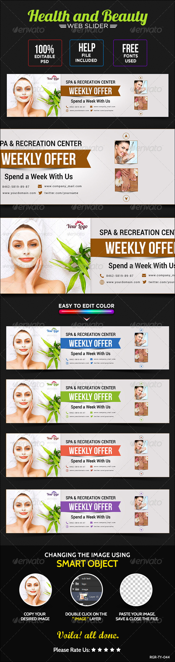 GraphicRiver Health & Beauty Sliders 8720269