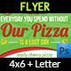 Pizza Restaurant Flyer Template - GraphicRiver Item for Sale