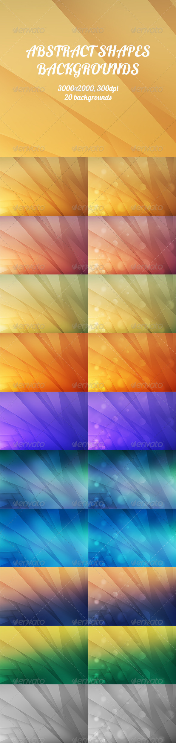 GraphicRiver Abstract Shapes Backgrounds 8720389
