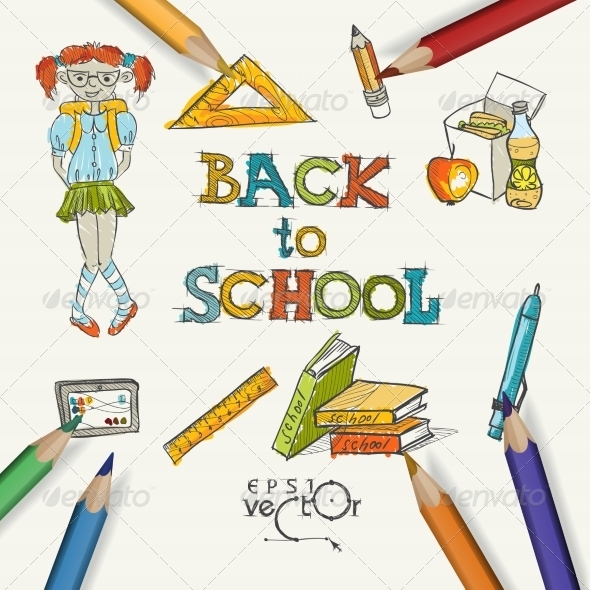 GraphicRiver Welcome Back To School 8720424