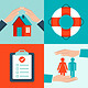 Vector Insurance Concepts in Flat Style - GraphicRiver Item for Sale