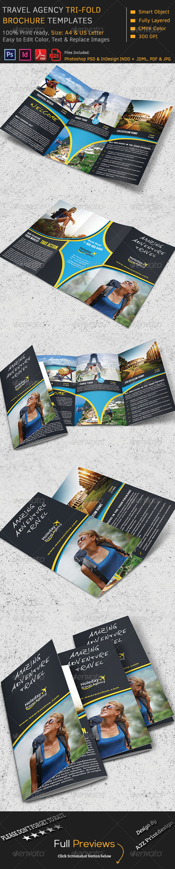 GraphicRiver Travel Agency Brochure 8720522