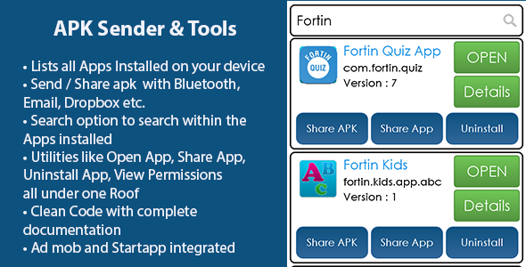 CodeCanyon Fortin APK Sender and Tools 8720572