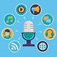 Vector Podcast Concept in Flat Style - GraphicRiver Item for Sale