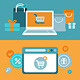 Vector Internet Shopping Concept in Flat Style - GraphicRiver Item for Sale