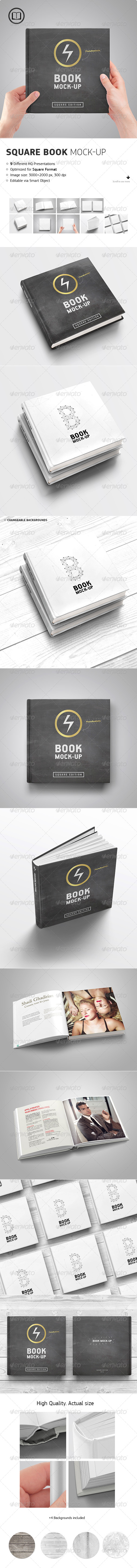 GraphicRiver Square Book Mock-Up 8720820