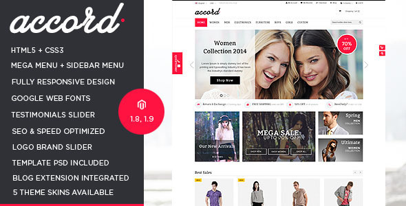 Accord - Responsive Multipurpose Magento theme - Shopping Magento