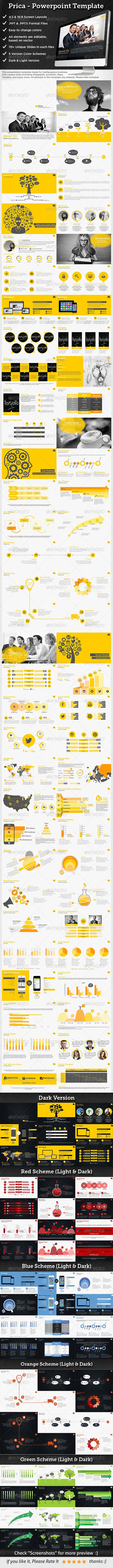 GraphicRiver Prica Presentation Powerpoint Template 8594950