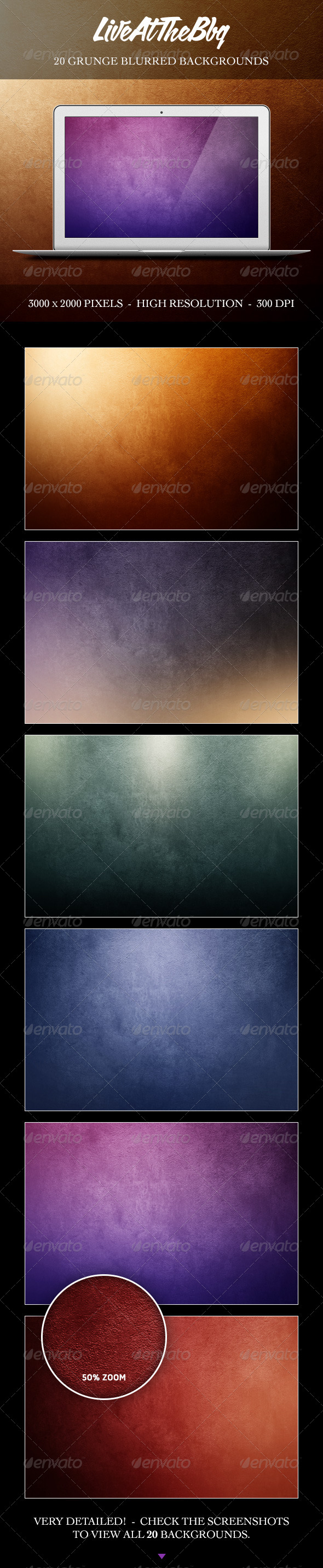 GraphicRiver Grunge Blurred Backgrounds 8721120
