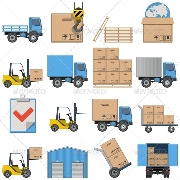 GraphicRiver Vector Flat Icons Shipping 8721152